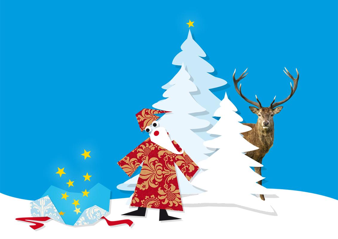 Individuelle Illustration für Weihnachten