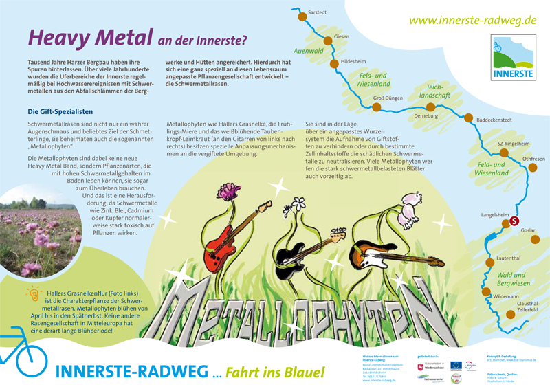 Infotafel am Innerste-Radweg: Metallophyten als Gift-Spezialisten