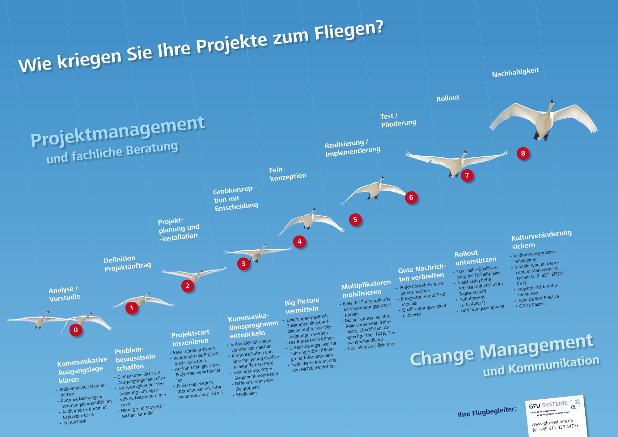 Infografik Projektmanagement