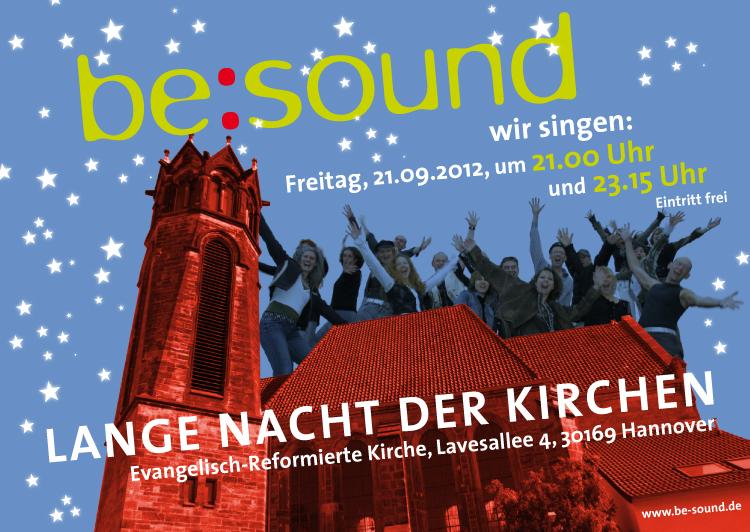 Plakat be:sound, Lange Nacht der Kirchen Hannover
