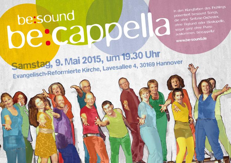 Plakat be:sound, Bandkonzert 2015