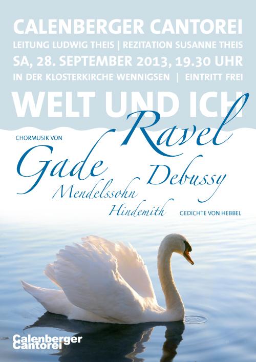 Plakat Calenberger Cantorei, Konzert Ravel