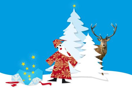 Individuelle Illustrationen für Ihre Grußkarte zu Weihnachten
