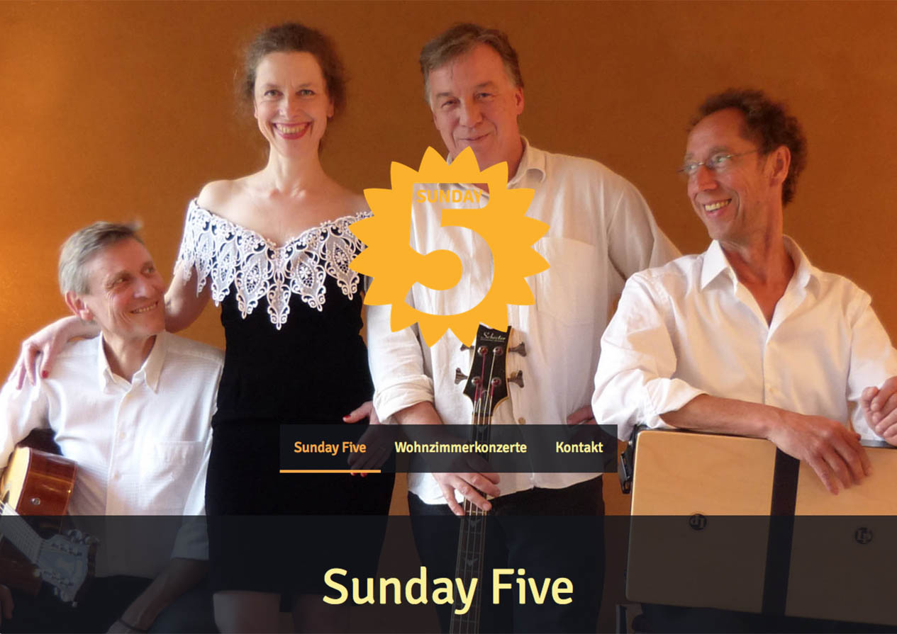 Website der Band Sunday Five