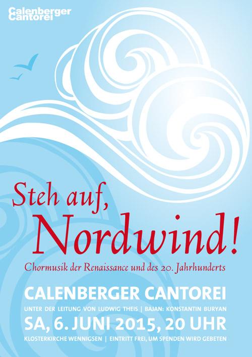 Plakat Calenberger Cantorei, Chormusik Rennaissance und 20. Jahrhundert