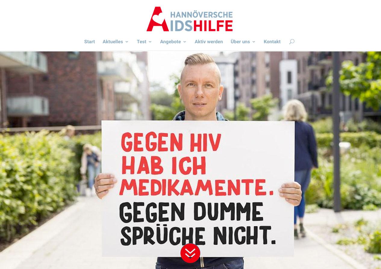 Internetauftritt Hannöversche Aidshilfe