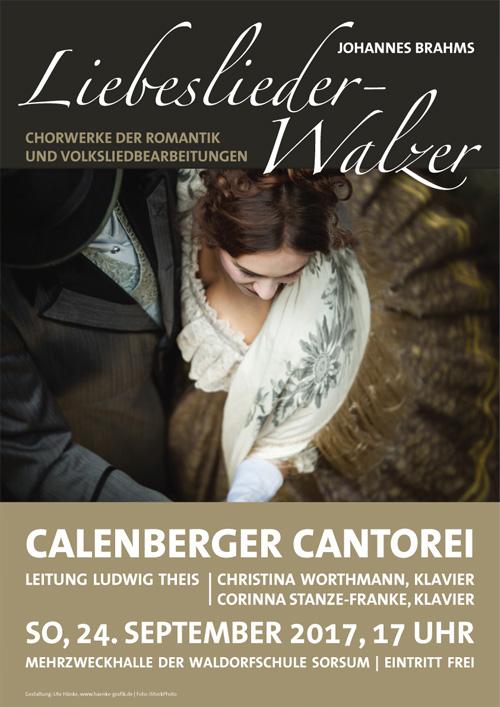 Plakat Calenberger Cantorei, Chorwerke der Romantik
