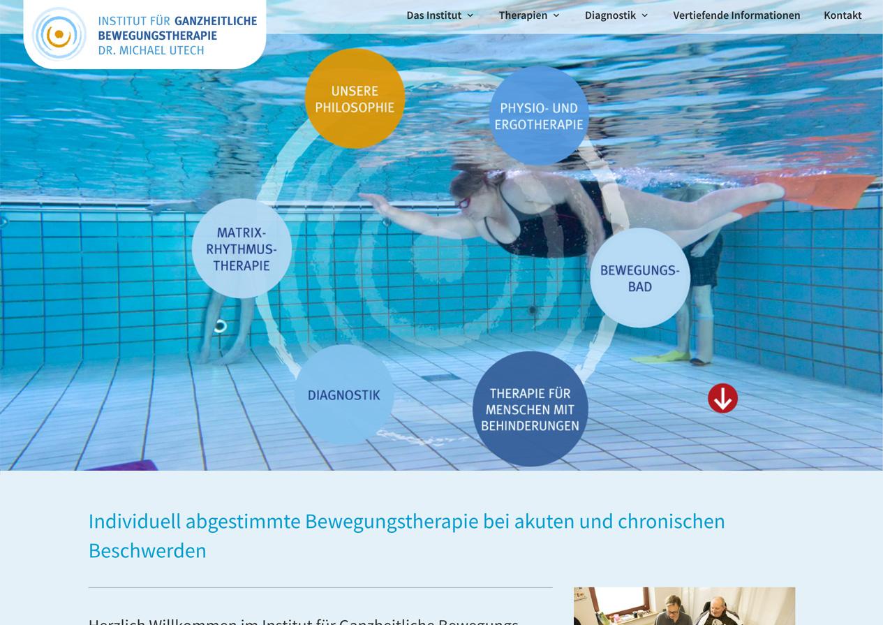 Praxishomepage Institut für Ganzheitliche Bewegungstherapie Dr. Michael Utech