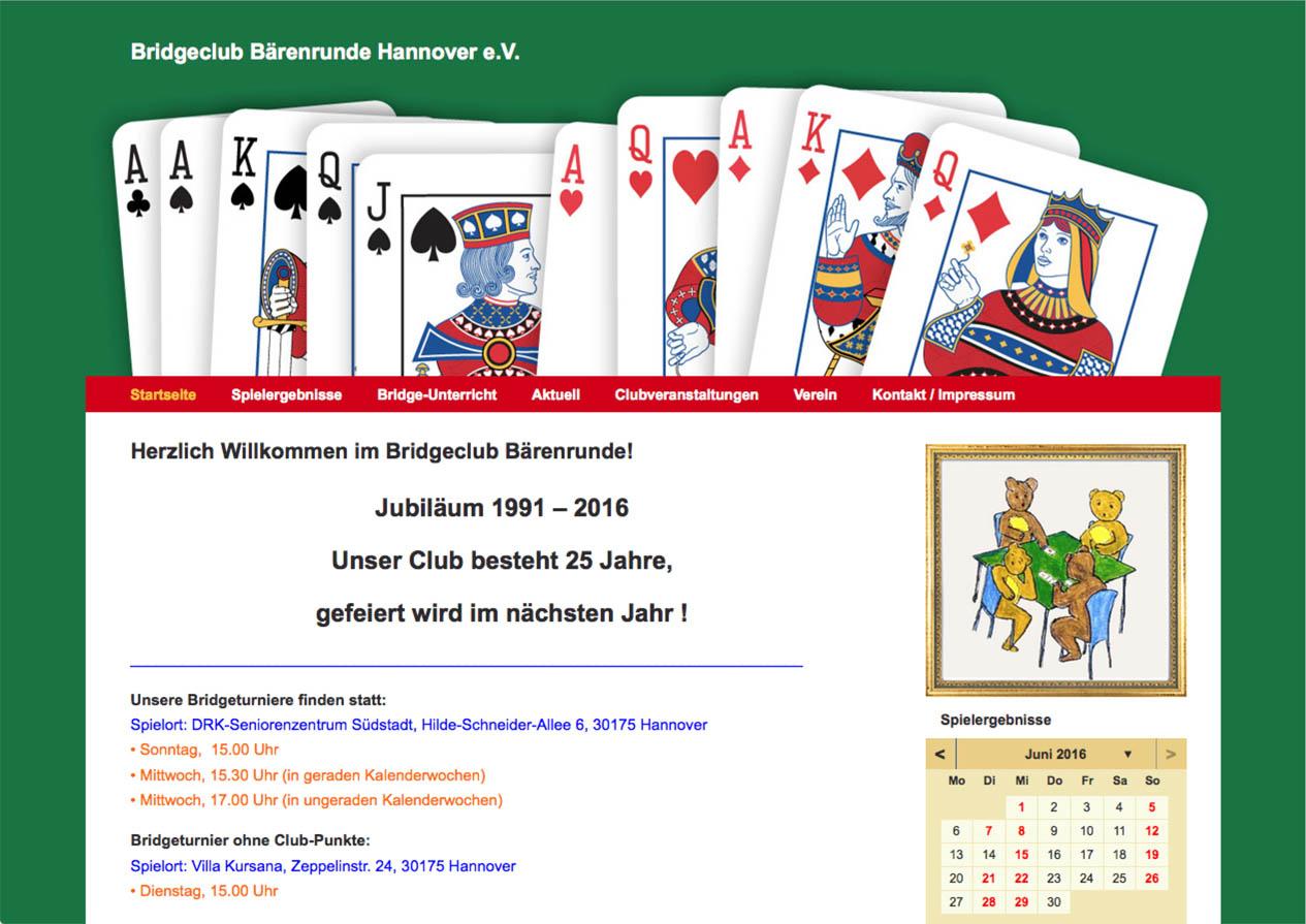 Internetseite Bridgeclub Bärenrunde
