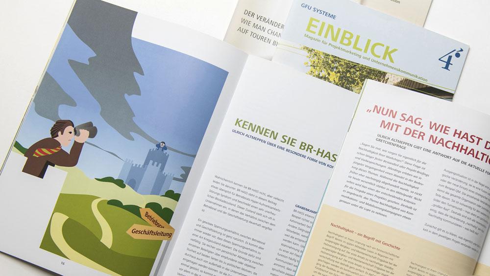 Grafikdesign: Individuelle Illustrationen werten Ihre Unternehmensbroschüre auf.
