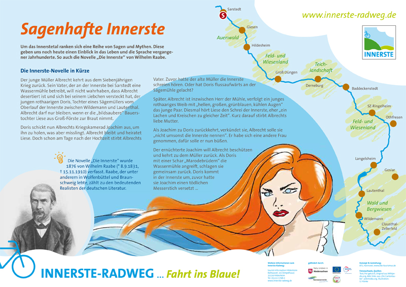 Infotafel am Innerste-Radweg: Die Innerste-Novelle