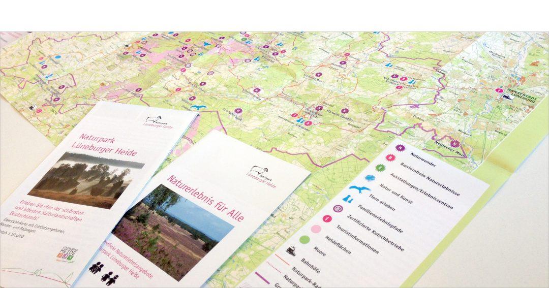 Naturpark Lüneburger Heide: Übersichtskarte, Piktogramme, Infobroschüre