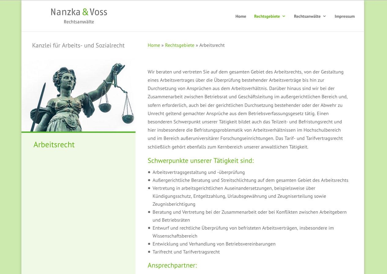 Website Kanzlei Dr. Nanzka