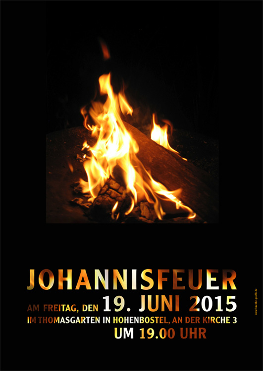 Plakat Johannisfeuer