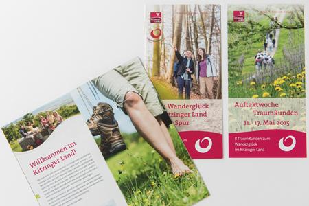 Traumrunden: Tourenguide und Flyer für Wanderungen im Kitzinger Land