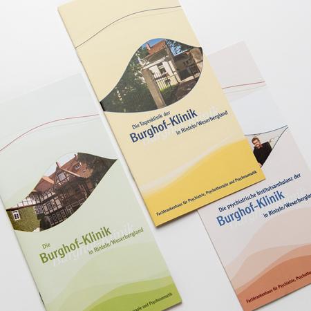 Informationsflyer der Burghofklinik Rinteln