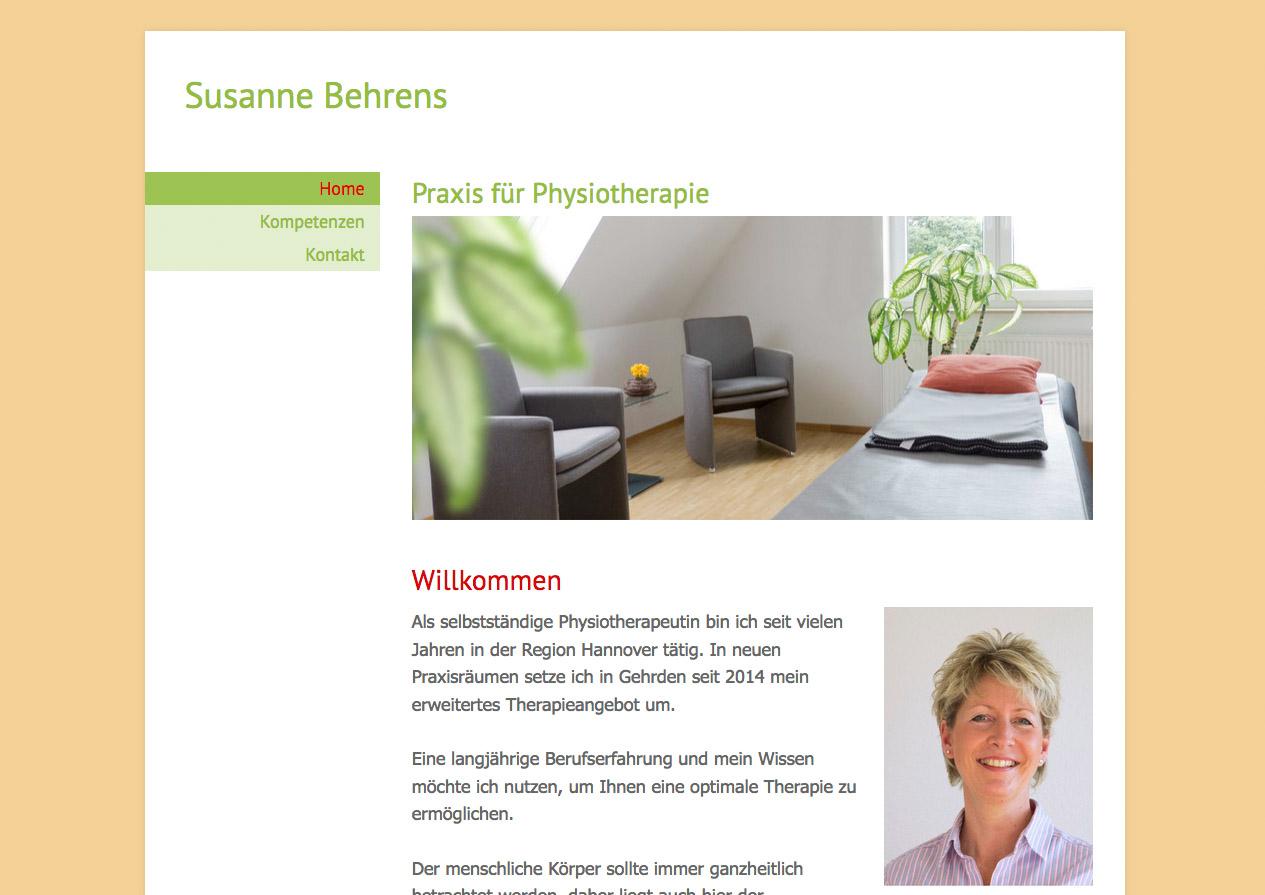 Praxishomepage Susanne Behrens