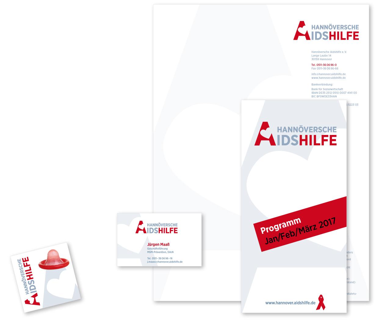 Geschäftspapiere Hannöversche Aidshilfe