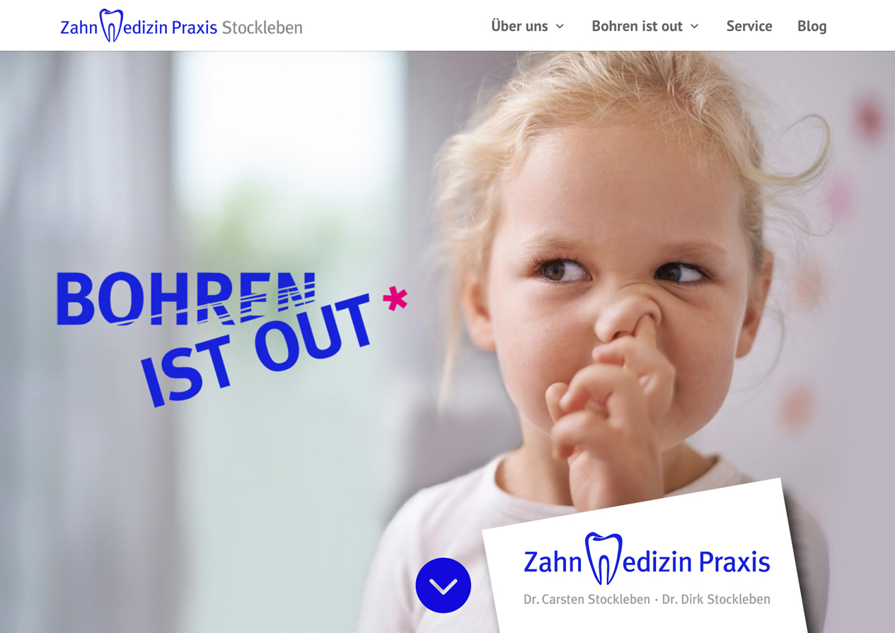Internetauftritt ZahnMedizinPraxis Stockleben