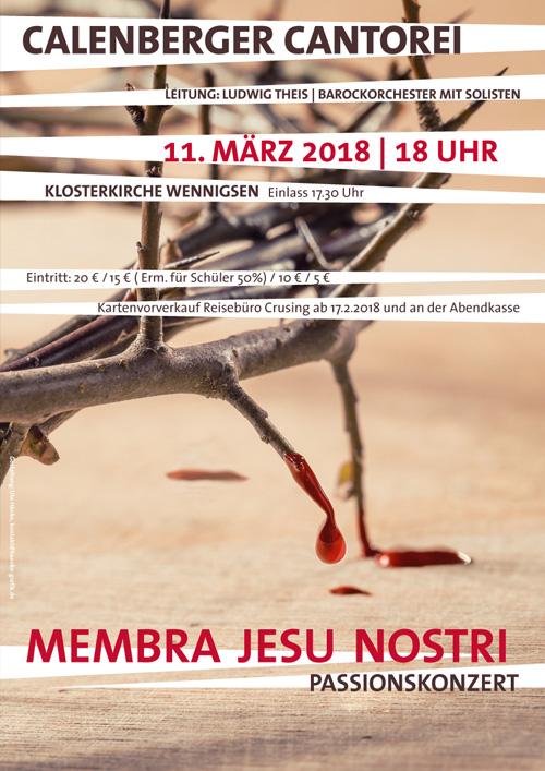 Plakat Calenberger Cantorei, Passionskonzert Buxtehude