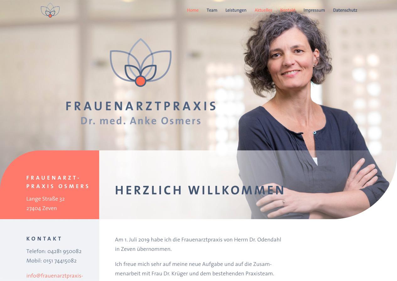 Internetauftritt Frauenarztpraxis Zeven