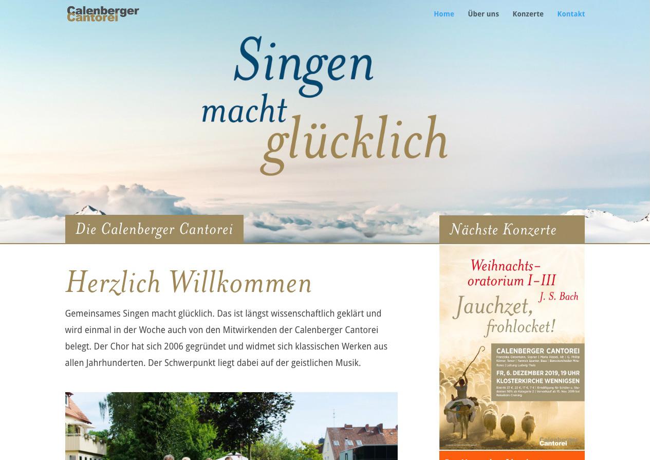 Internetauftritt Calenberger Cantorei