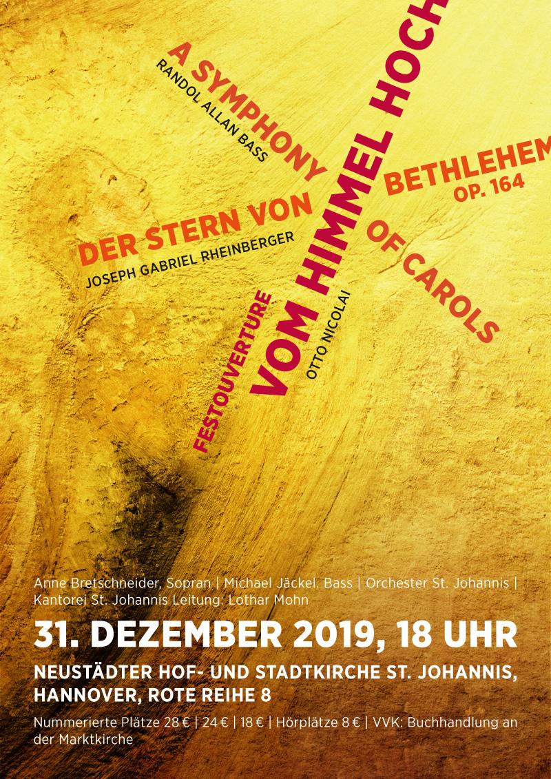 Plakat Kantorei St. Johannis - Silvesterkonzert