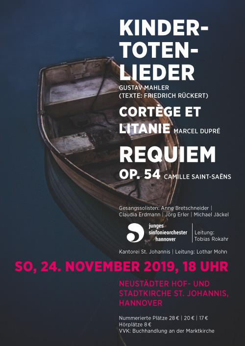 Plakat Kantorei St. Johannis - Konzert zum Totensonntag
