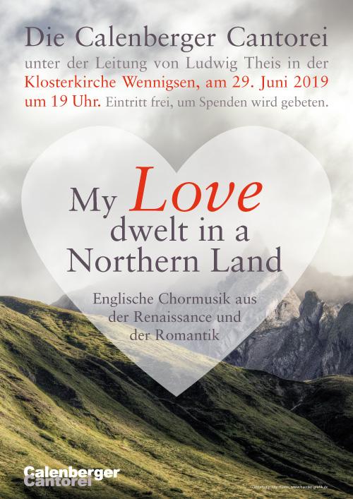 Plakat Calenberger Cantorei - englische Chormusik der Romantik