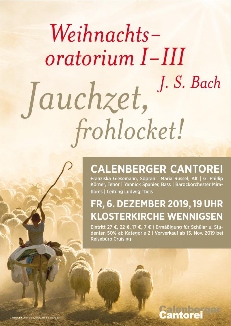Plakat Calenberger Cantorei, J. S. Bach - Weihnachtsoratorium 1-3