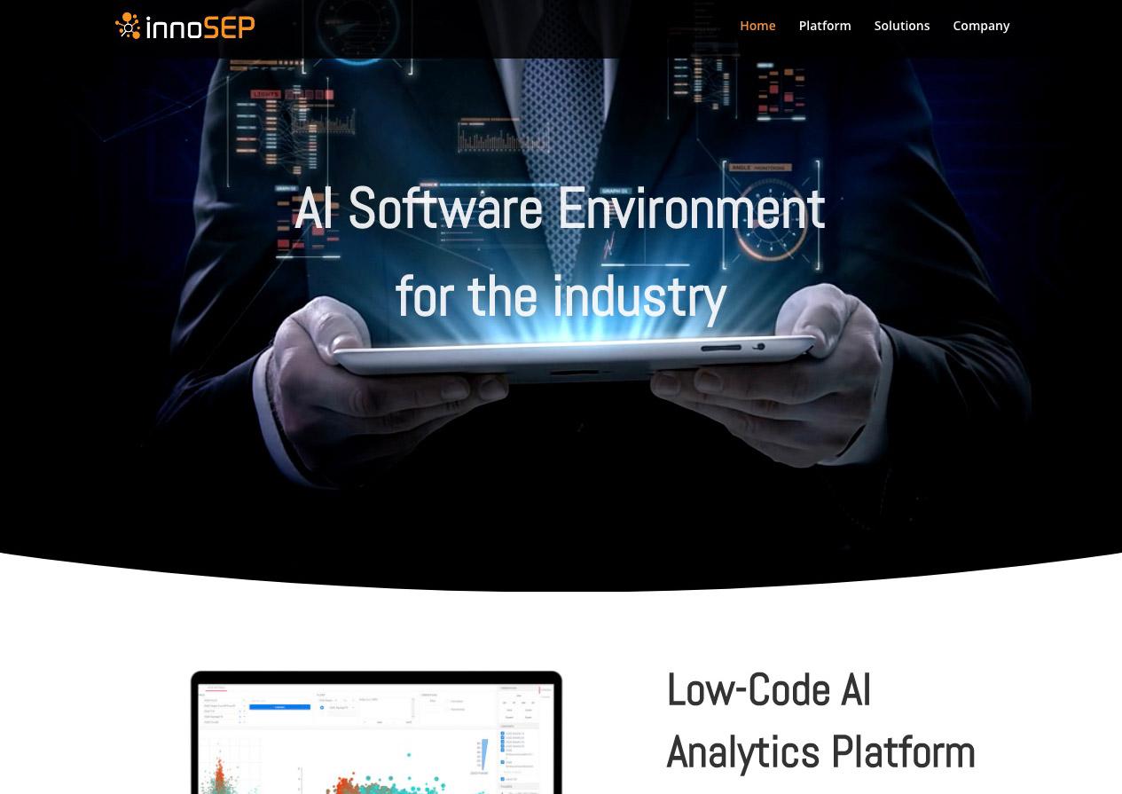 Internetauftritt innoSEP AI Solutions