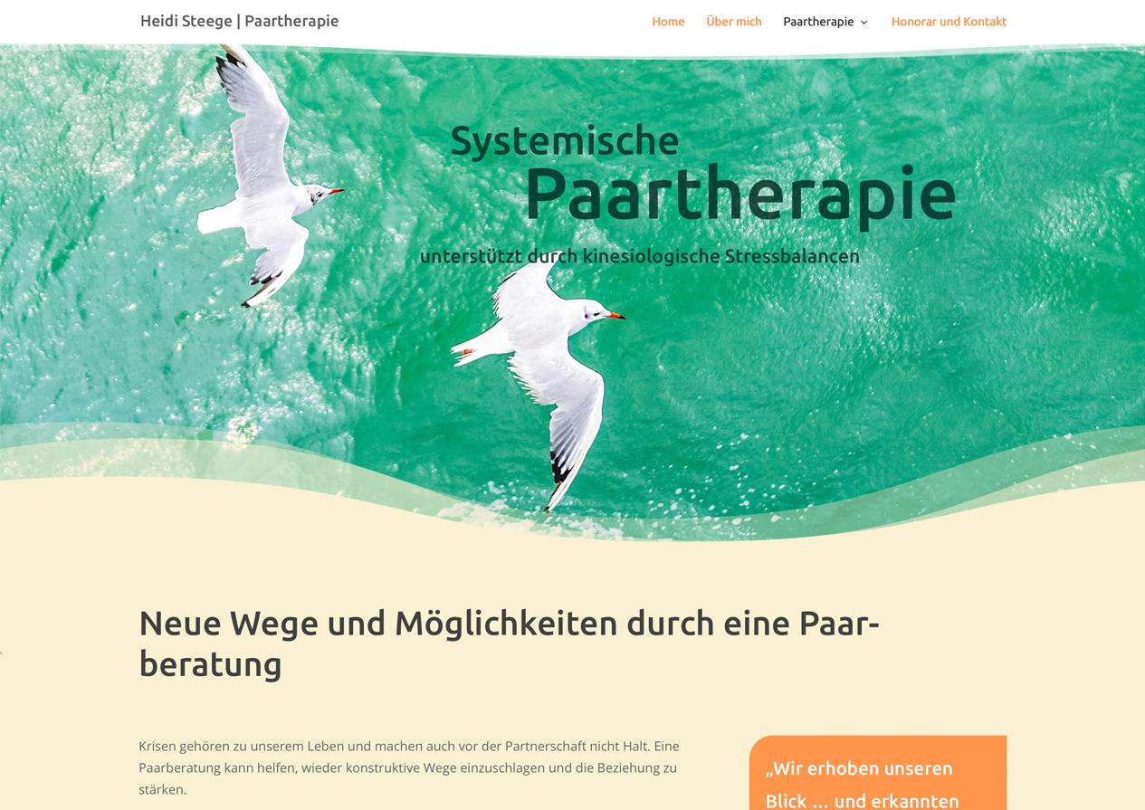 Praxishomepage Heidi Steege Paarberatung