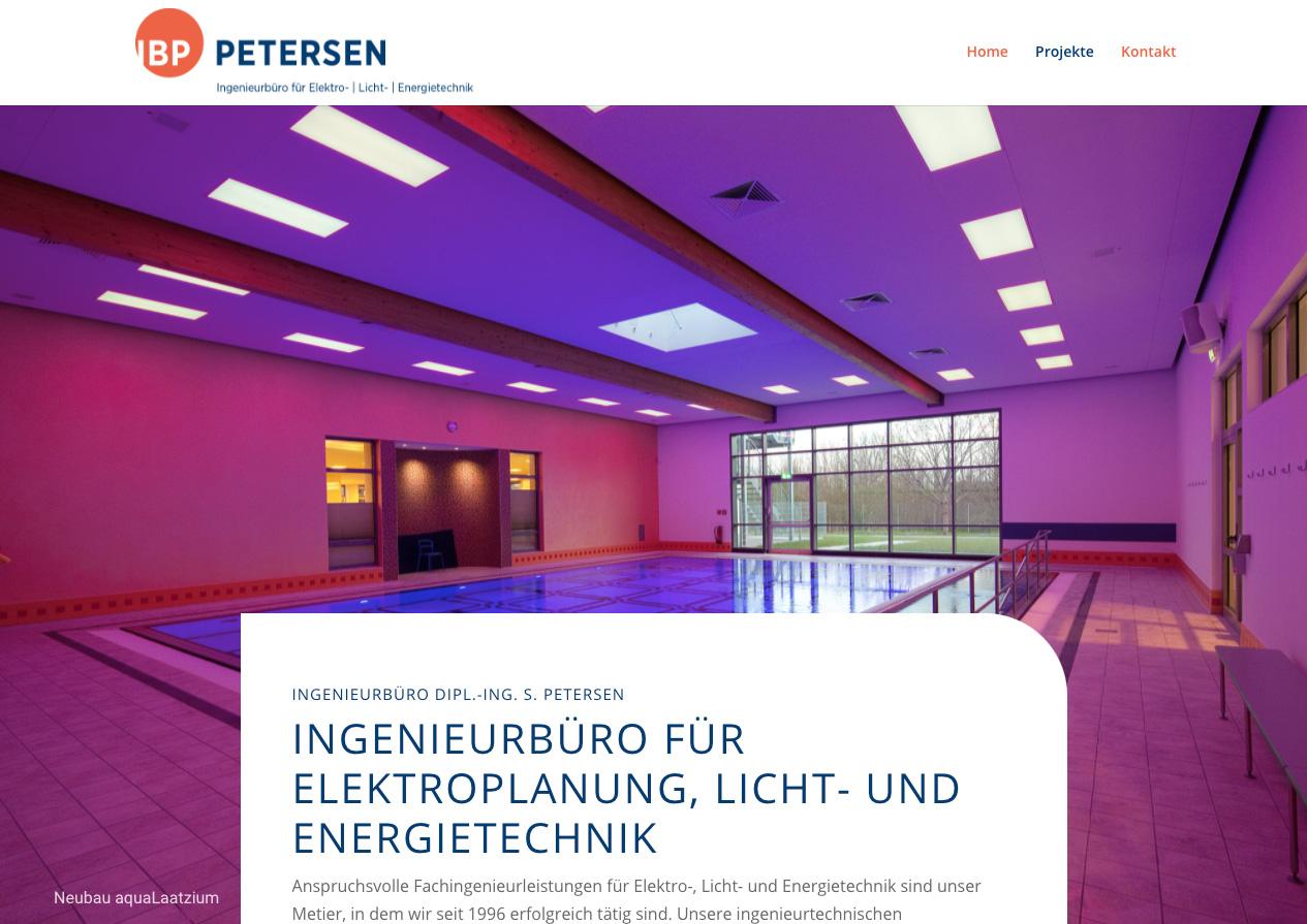 Internetauftritt Ingenieurbüro Petersen, Hannover