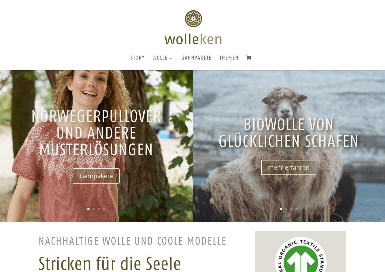 Internetauftritt Wolleken, nachhaltige Wolle
